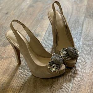 Zara embellished peep toe heels